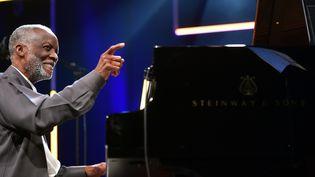 Ahmad Jamal en concert à Marciac, le 5 août 2016  (Rémy Gabalda / AFP)
