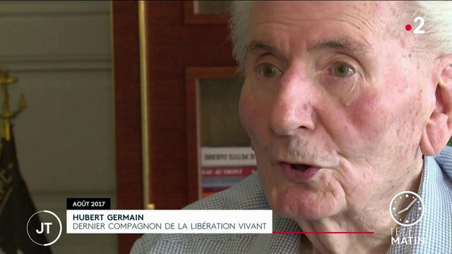 Seconde Guerre mondiale: Hubert Germain, dernier compagnon de la Libération vivant