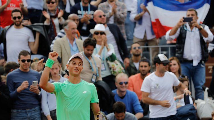 Antoine Hoang, le 30 mai 2019,à Rolland-Garros. (THOMAS SAMSON / AFP)