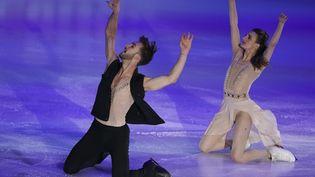 Les vice-champions olympiques de danse sur glace, Guillaume Cizeron et Gabriella Papadakis. (ALEXANDER VILF / SPUTNIK)