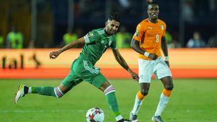 Riyad Mahrez et l'Algérie face à la Côte d'Ivoire lors de la Coupe d'Afrique des Nations 2019. (ULRIK PEDERSEN / NURPHOTO)