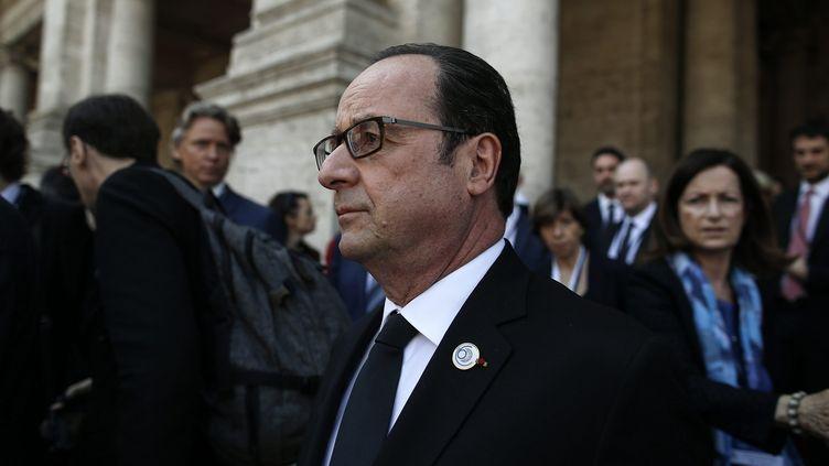 François Hollande, le 25 mars 2017 à Rome (Italie) à l'occasion des 60 ans du traité de Rome. (MAXPPP)