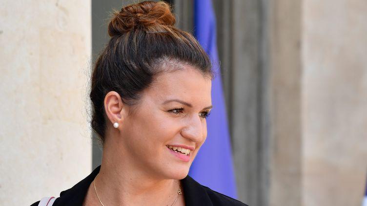 La secrétaire d'Etat à l'égalité femmes/hommes, Marlène Schiappa, à la sortie du Conseil des ministres, le 25 juillet 2018. (MAXPPP)