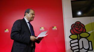 Jean-Christophe Cambadélis, après l'annonce de sa démission de la direction du Parti socialiste, au soir du second tour des élections législatives, le 18 juin 2017. (NICOLAS TAVERNIER / REA)