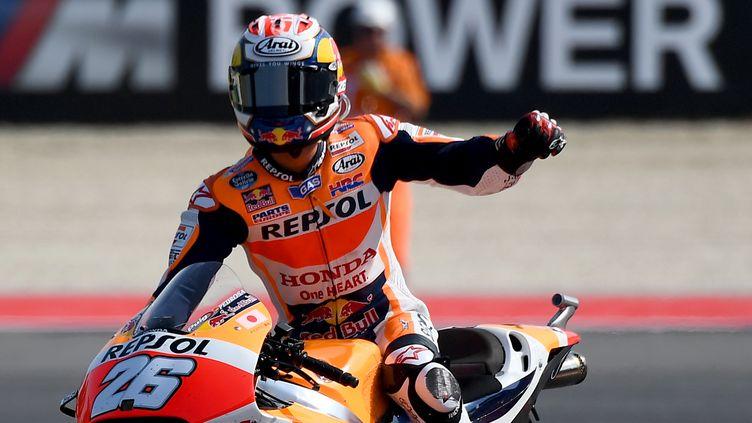 Le pilote espagnol de Honda, Dani Pedrosa (GABRIEL BOUYS / AFP)