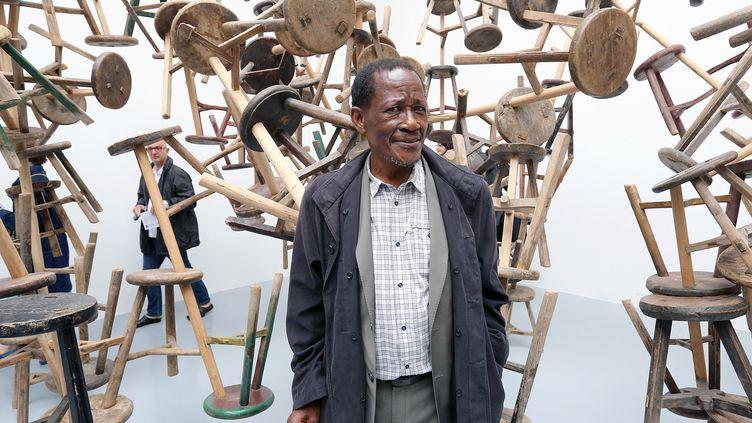Santu Mofokengà la biennale de Venise en 2012. (BARBARA ZANON / GETTY IMAGES EUROPE)