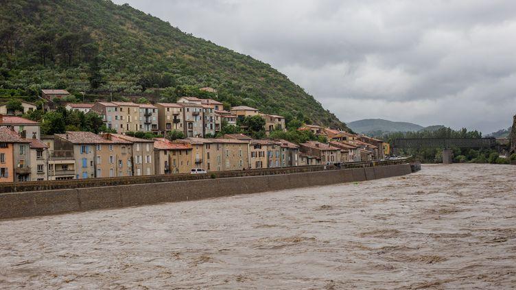 Des inondations le 12 juin 2020 à Anduze, dans le nord du Gard. (BENJAMIN POLGE / HANS LUCAS / AFP)