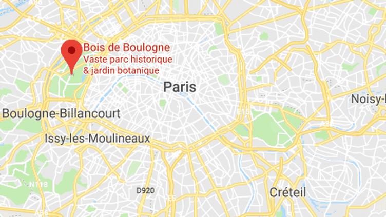 Le bois de Boulogne. (GOOGLE MAPS)