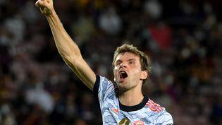 Thomas Müller a guidé le Bayern Munich contre le FC Barcelone en phase de groupes de la Ligue des champions le 14 septembre 2021. (LLUIS GENE / AFP)