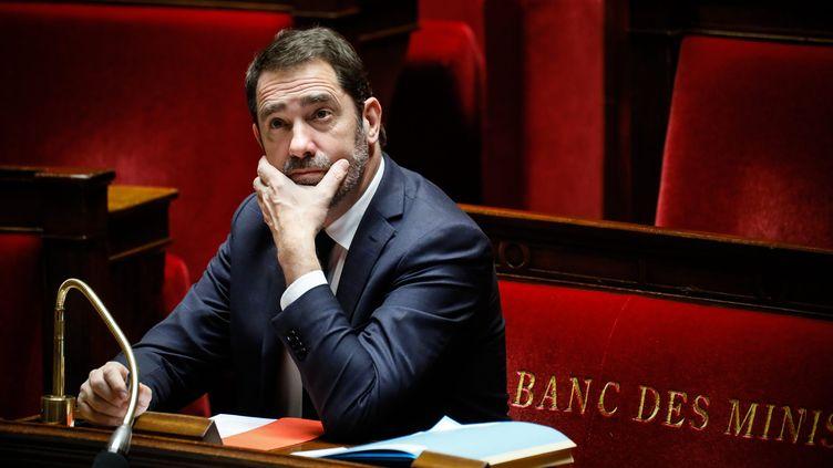 Le ministre de l'Intérieur, Christophe Castaner, le 5 février 2019 à l'Assemblée nationale. (THOMAS PADILLA / MAXPPP)