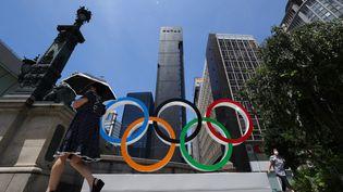 Un premier cas de covid a été enregistré au sein du village olympique, le 17 juillet 2021. (KUNIHIKO MIURA / AFP)