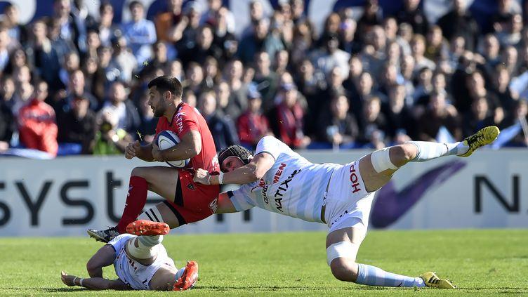 La confrontation entre Racing et Toulon en quart de finale de Coupe d'Europe cette saison avait tourné à l'avantage des Franciliens. (MIGUEL MEDINA / AFP)