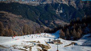 La station de Serre Chevalier(Hautes-Alpes), le 27 décembre 2015. (MAXPPP)