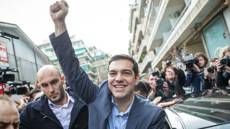 (Syriza, le parti de gauche radicale d'Alexis Tsipras a remporté les élections législatives © MAXPPP)