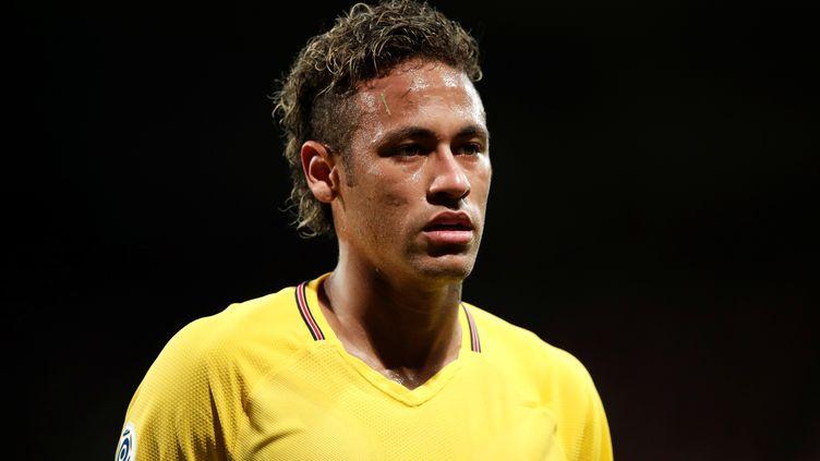 Neymar, lors du match de Ligue 1 opposant le PSG à Guingamp,dans cette même ville, le 13 août 2017. (BENOIT TESSIER / REUTERS)