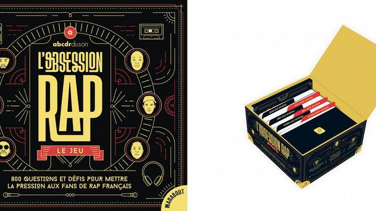 """Le jeu de société """"L'Obsession Rap"""" conçu par les spécialistes hip-hop du site indépendant l'ABCDR du son. (EDITIONS MARABOUT)"""