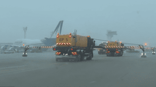 Météo France estime que l'épisode neigeux qui frappe la France ce mardi 6 février pourrait se poursuivre pendant 48 heures, ce qui va compliquer le trafic dans les aéroports. Comment se prépare-t-on à Orly pour ce scénario ? (France 3)
