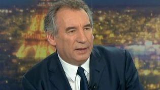 Capture d'écran.François Bayrou, invité du journal de 20 heures de France 2, le 12 juin 2013. ( FRANCE 2 / FRANCETV INFO)