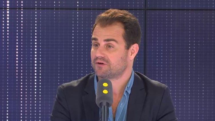 Jérôme Cazadieu était l'invité média de franceinfo, vendredi 14 juin. (CAPTURE ECRAN - FRANCEINFO)