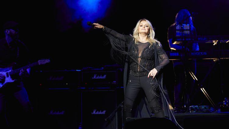 Bonnie Tyler donne un concert à Vienne, en Autriche, le 9 avril 2017. (MARKUS WACHE / APA-PICTUREDESK / AFP)