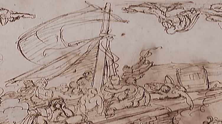 Esquisse de Géricault pour le Radeau de la Méduse  (France2/culturebox)