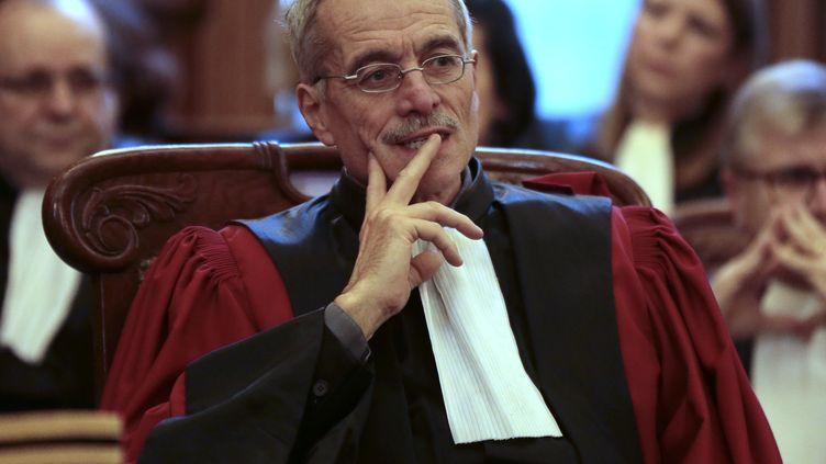 Renaud Van Ruymbeke, juge du pôle financier de Paris, en janvier 2014. (JACQUES DEMARTHON / AFP)