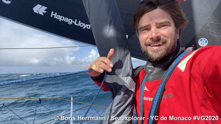 Le navigateur Boris Herrmann sur le Vendée Globe. (Boris Hermann / Seaexplorer - YC de Monaco)