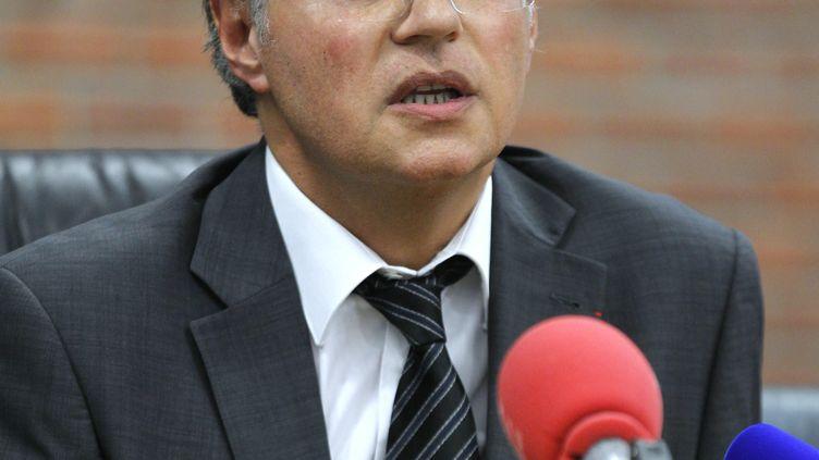 Le directeur de la police judiciaire parisienne, Bernard Petit, le 23 juin 2012 au tribunal de Bobigny (Seine-Saint-Denis). (FRANCOIS GUILLOT / AFP)