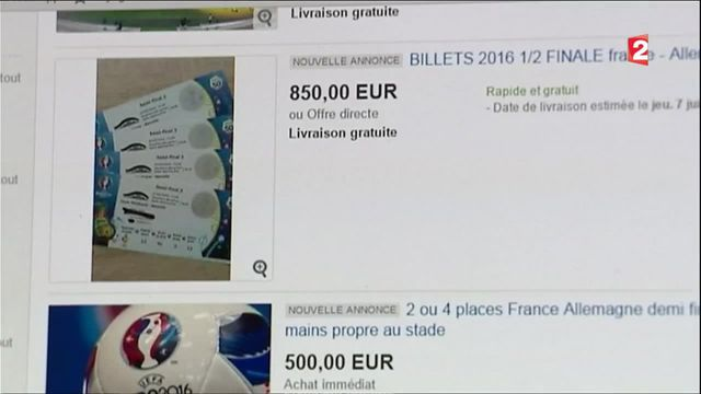 Euro 2016 : l'important marché noir des billets