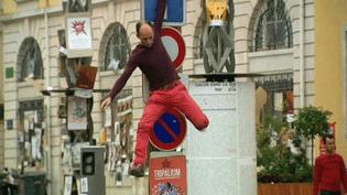 Des comédiens-danseurs qui évoluent dans l'univers urbain, c'est cela Chalon dans la Rue.  (France 3)
