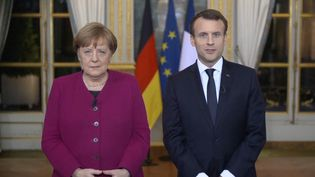 Angela Merkel et Emmanuel Macron à l'Elysée (AFP)