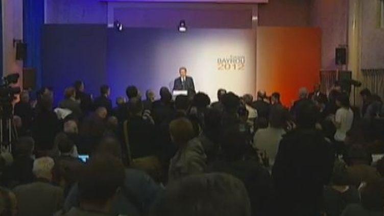 François Bayrou à la Maison de la Chimie, à Paris, le 6 décembre 2011. (FTVi)