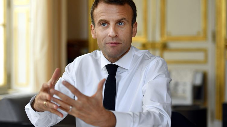 Le président de la République Emmanuel Macron à l'Elysée, le 4 novembre 2018. (MAXPPP)