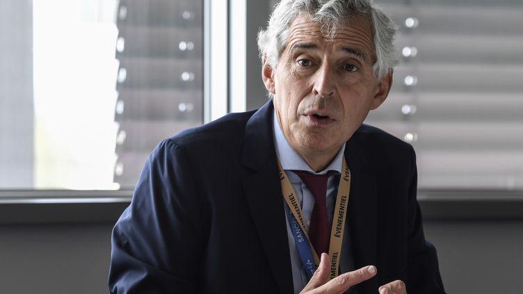 Philippe Luscanvice-président des affaires industrielles de Sanofi, le 21 septembre 2018 à Lyon. (PHILIPPE DESMAZES / AFP)