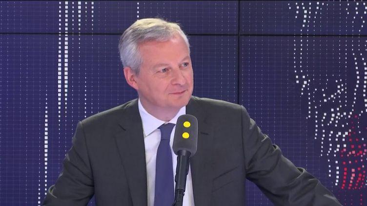 Le ministre de l'Économie, Bruno Le Maire, le 13 juin 2019. (RADIO FRANCE / FRANCEINFO)