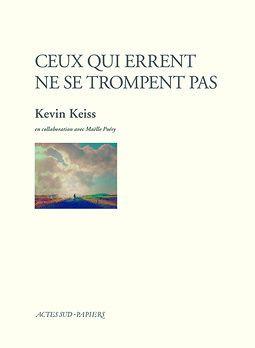 """La couverture du livre """"Ceux qui errent ne se trompent pas""""  (Actes Sud)"""