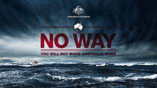 Capture d'écran d'un spot gouvernemental pour décourager les migrants de gagner l'Australie. (AUSCUSTOMNEWS / YOUTUBE)