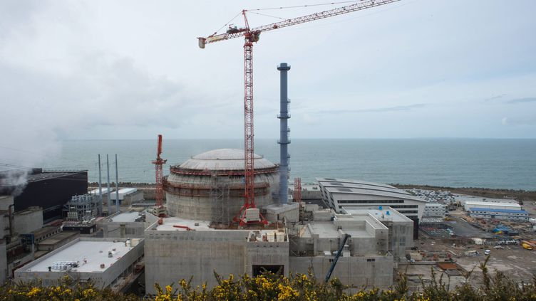 Le chantier de l'EPR de Flamanville, le 30 mars 2016. (MAXPPP)