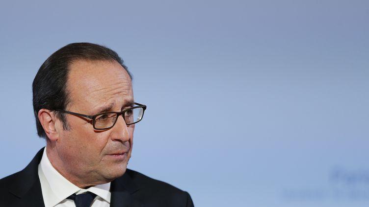 François Hollande vient de passer 24 heures en Corrèze pour adresser ses voeux aux habitants de ce département. (BENOIT TESSIER / POOL)