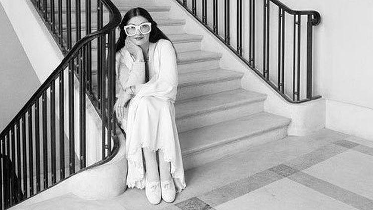 La styliste Emmanuelle Khahn, Vogue Italie 1974  (DR)
