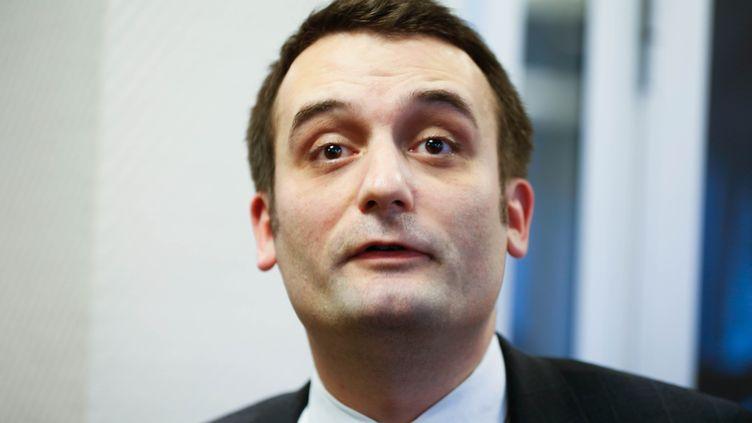 Le vice-président du Front national Florian Philippot, le 16 janvier 2015 à Nanterre (Hauts-de-Seine). (CITIZENSIDE / JALLAL SEDDIKI / AFP)
