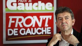Jean-Luc Mélenchon, le coprésident du Parti de gauche, le 5 septembre 2013 au siège du parti, à Paris. (PATRICK KOVARIK / AFP)