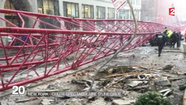 États-Unis: Un mort et trois blessés dans la chute d'une grue en plein Manhattan