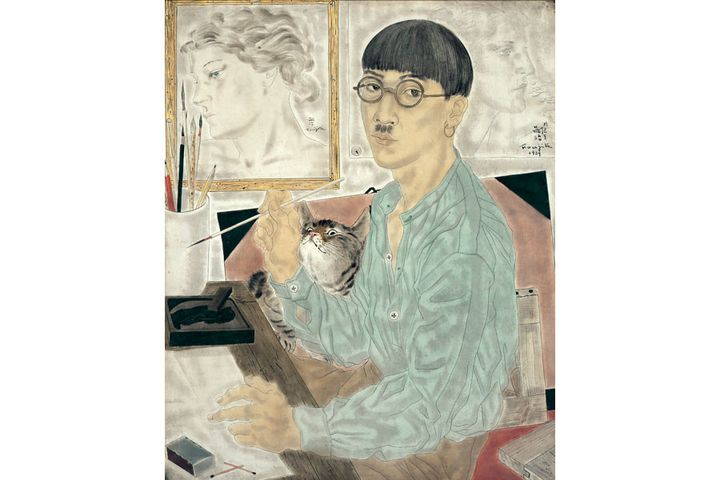 "Foujita, ""Autoportrait"", 1929, The National Museum of Modern Art, Tokyo  (Fondation Foujita / Adagp, Paris, 2018)"