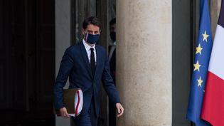 Le porte-parole du gouvernement après un Conseil des ministres, le 8 avril 2021 à l'Elysée. (ANDREA SAVORANI NERI / NURPHOTO / AFP)