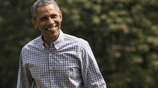 Le président des Etats-Unis, Barack Obama, quitte Camp David pour la Maison Blanche,le 2 août 2015. (JOSHUA ROBERTS / REUTERS )