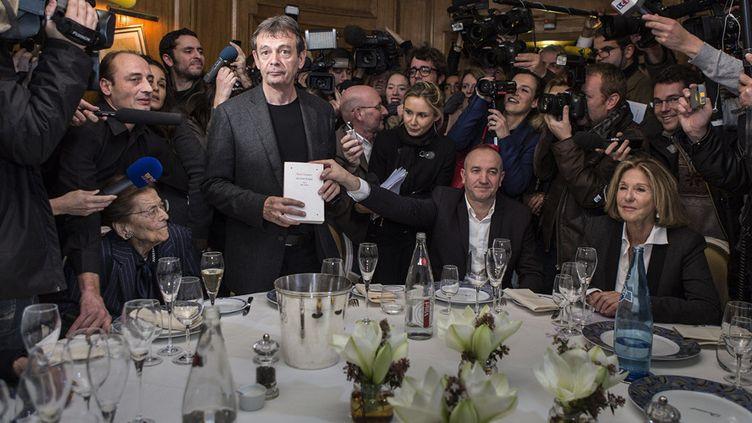 Pierre Lemaître le 4 novembre 2013 lors de la remise du Prix Goncourt  (GAEL CORNIER/SIPA)