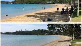Avant 14 heures et après 14 heures, à la Baie-des-Citrons, à Nouméa (Nouvelle-Calédonie). (CAROLINE ANTIC-MARTIN / NOUVELLE-CALEDONIE LA 1RE)