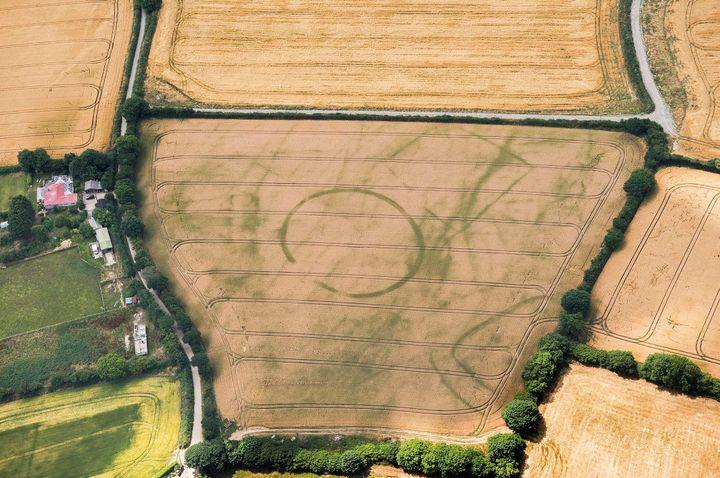 Traces d'habitations de forme ronde remontant à l'âge de fer à St Ives, en Cornouailles.  (Historic England)