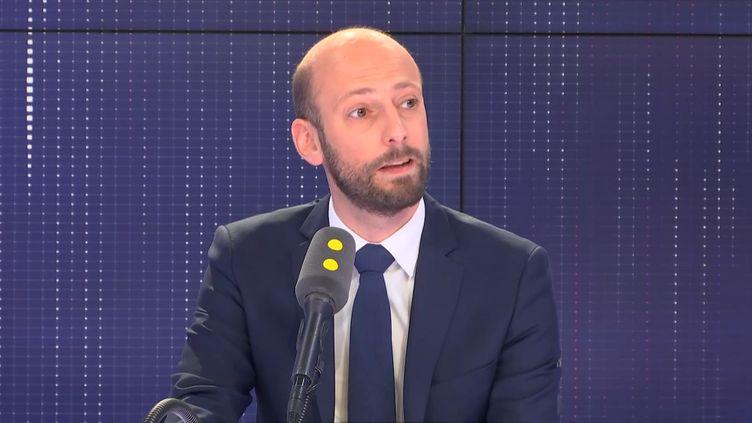 Stanislas Guerini, délégué général LREM est l'invité de franceinfo vendredi 10 mai 2019. (FRANCEINFO / RADIOFRANCE)